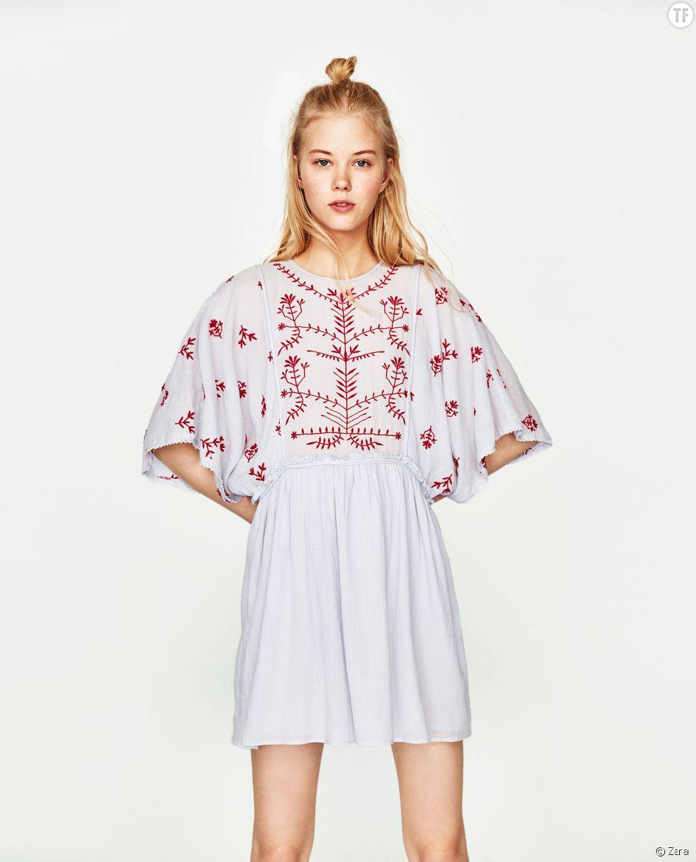 Robe à détails brodés Zara, 25,99€