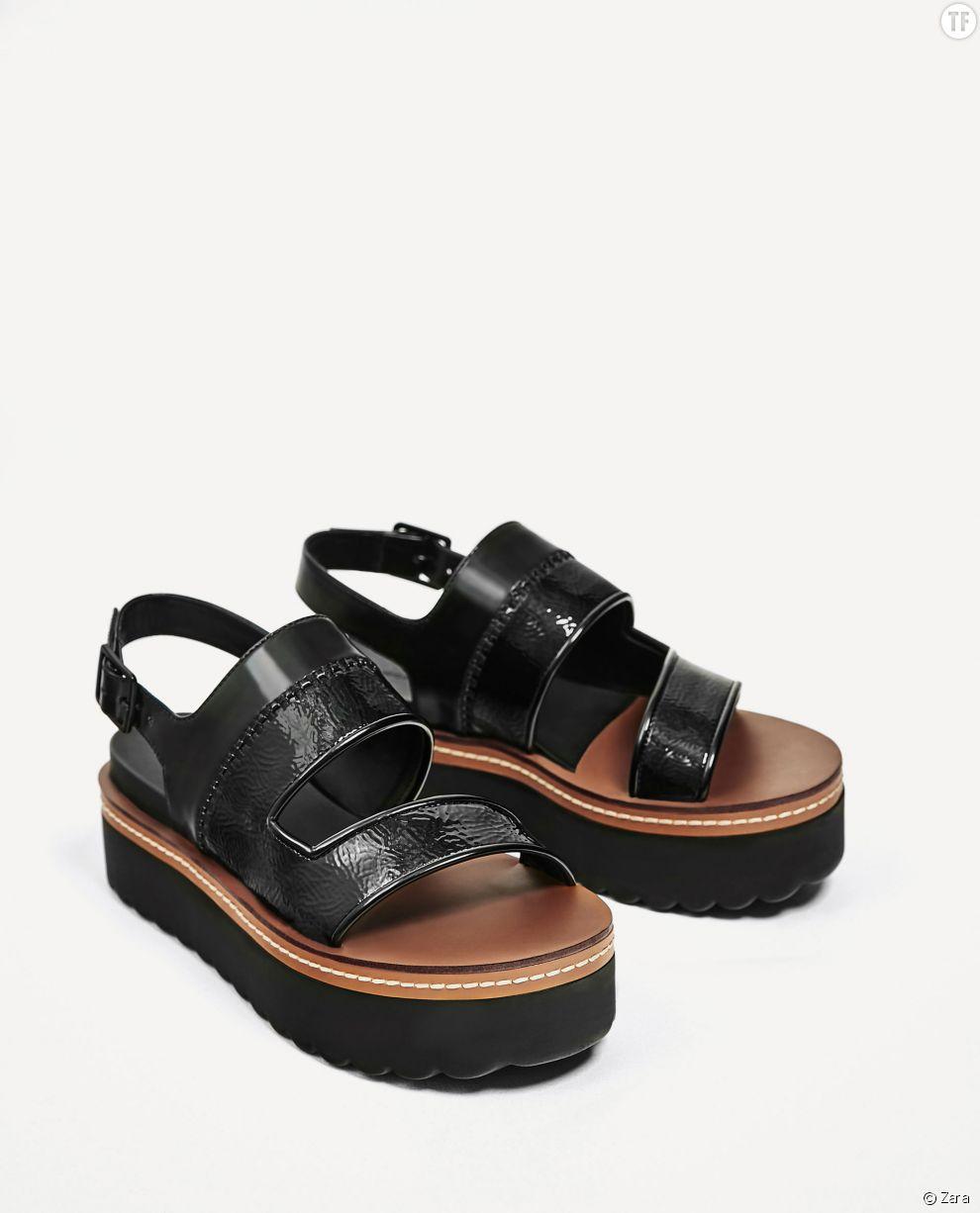 Sandales à plateforme Zara, 29,99€