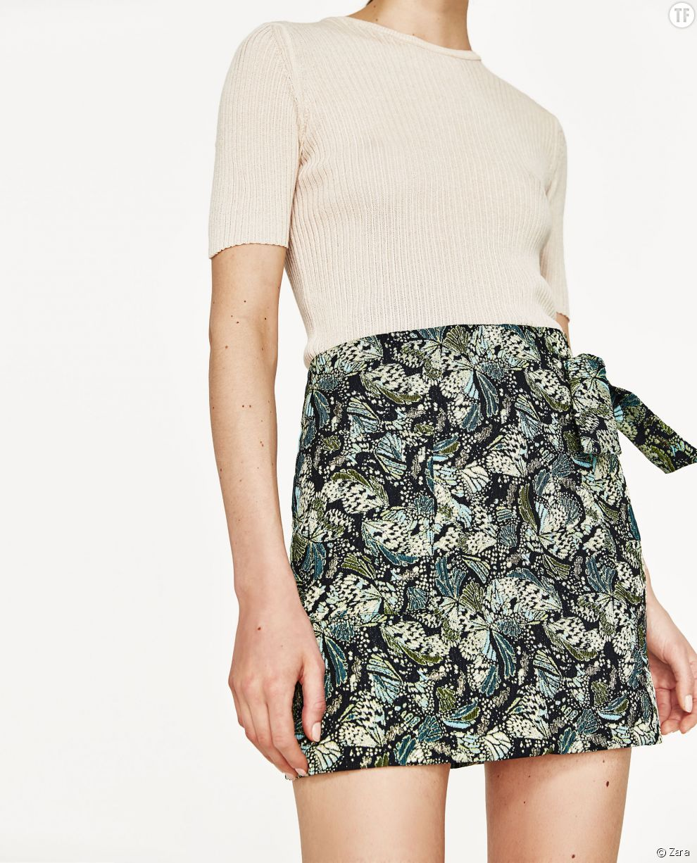 Jupe en jacquard Zara, 19,99€