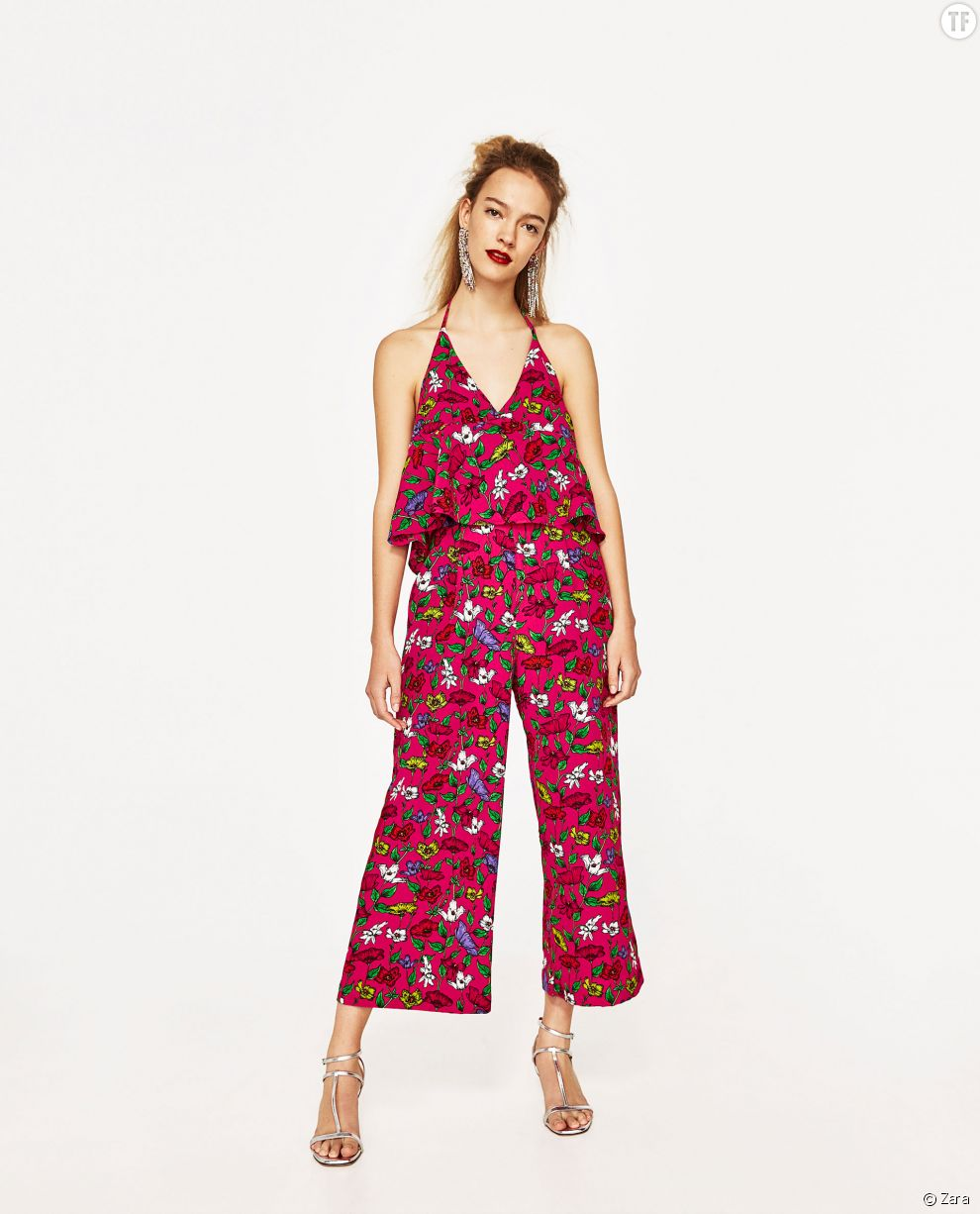 Combinaison imprimé fleuri Zara, 29,99€