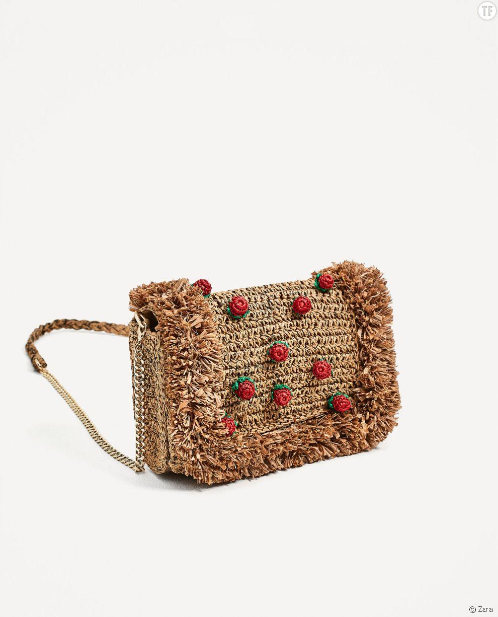Sac à main en raphia Zara, 29,99€