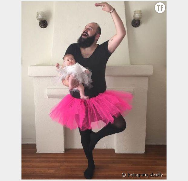 Ce papa poste d'incroyables photos avec son bébé sur Instagram
