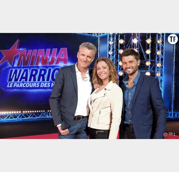 Denis Brogniart, Sandrine Quétier et Christophe Beaugrand animateurs de Ninja Warrior