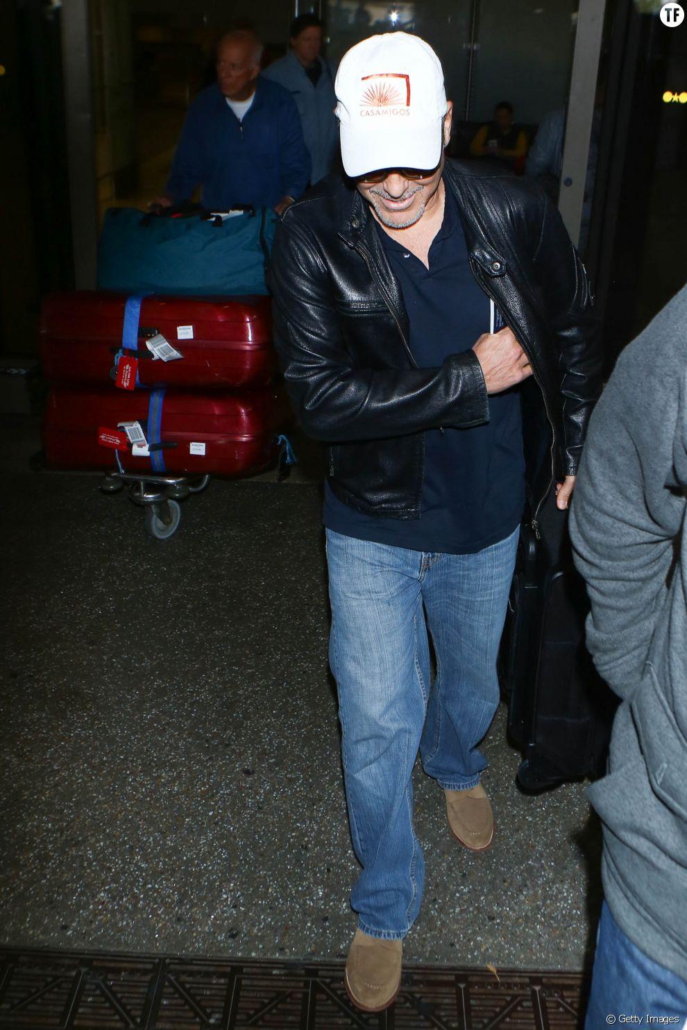 George Clooney à l'aéroport de Los Angeles le 22 mars 2017