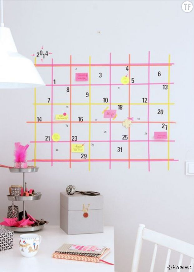 Masking tape calendrier