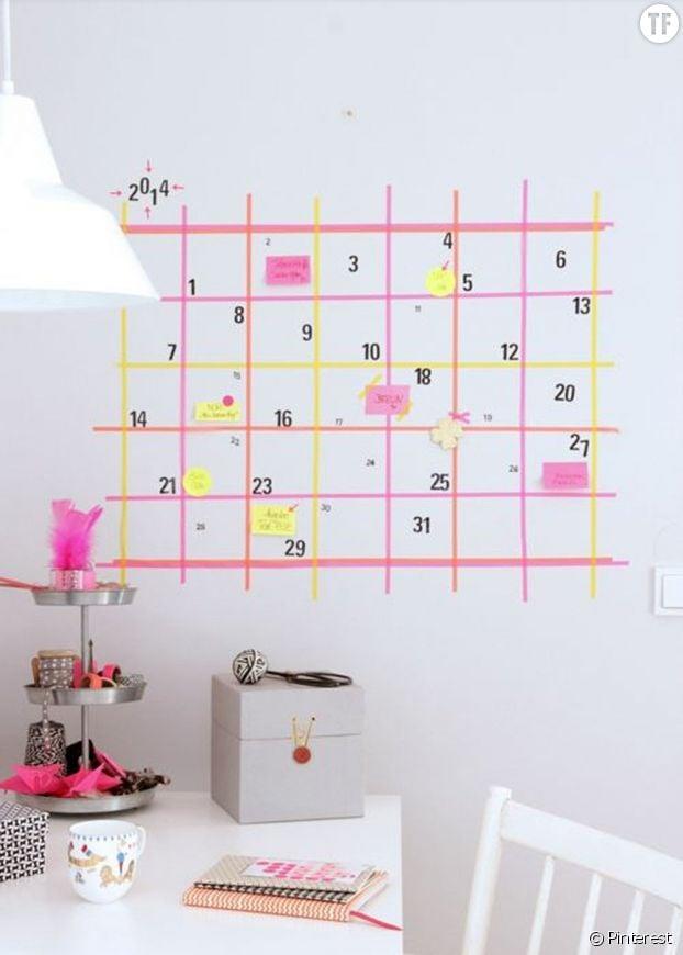 Masking tape calendrier
