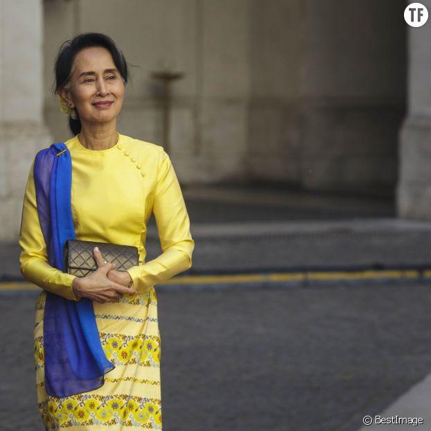 La ministre des Affaires étrangère du Myanmar (Birmanie) Aung San Suu Kyi