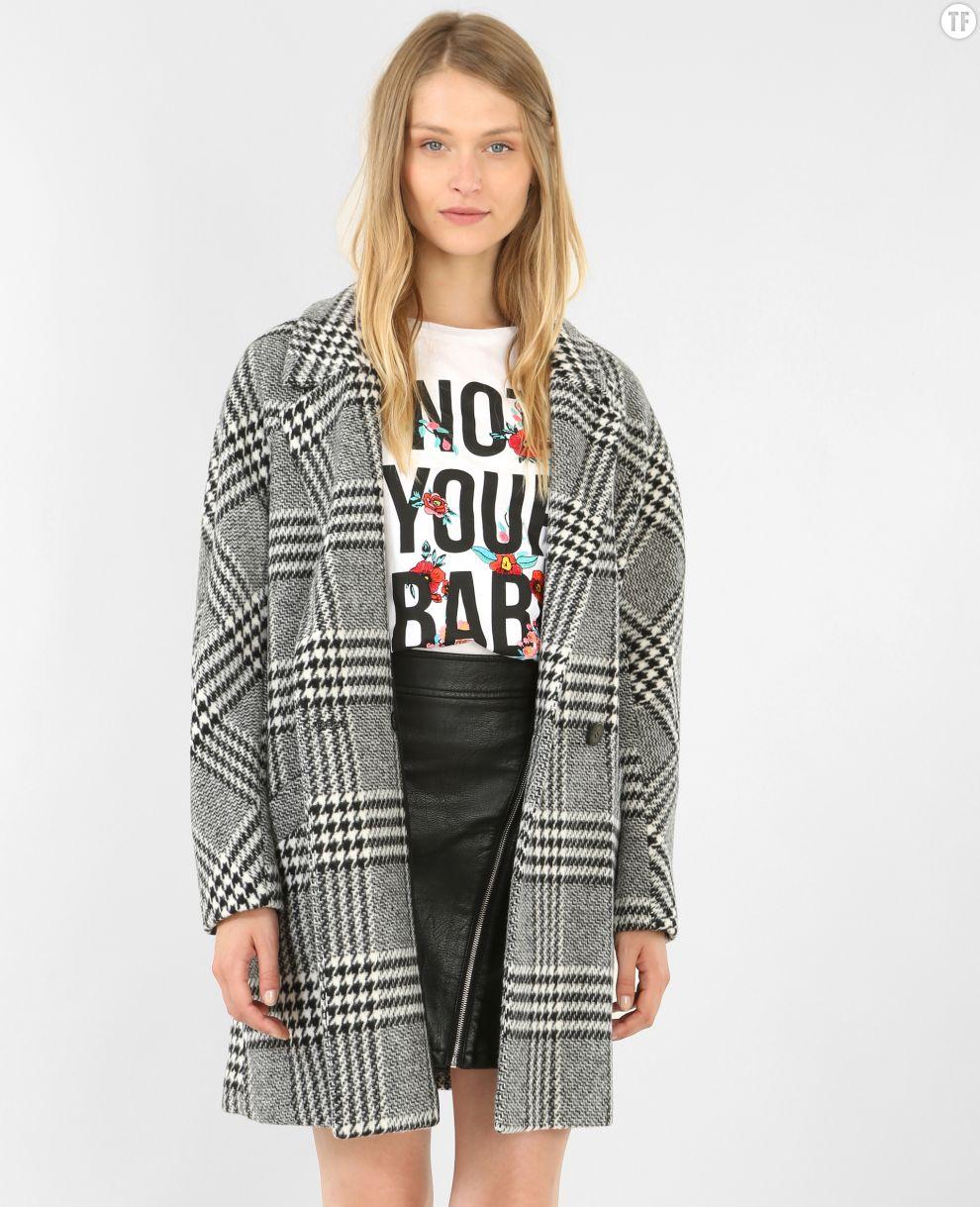 Manteau à carreaux oversized Pimkie, 79,99€