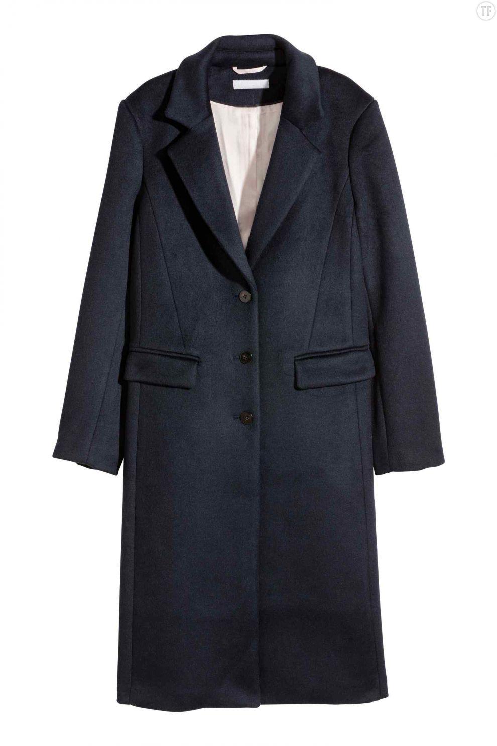 Manteau d'homme bleu marine H&M, 99€
