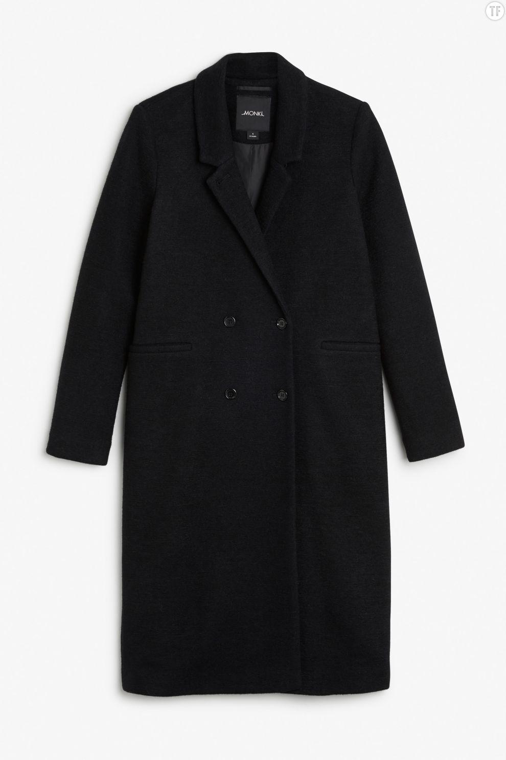 Manteau d'homme noir Monki, 80€