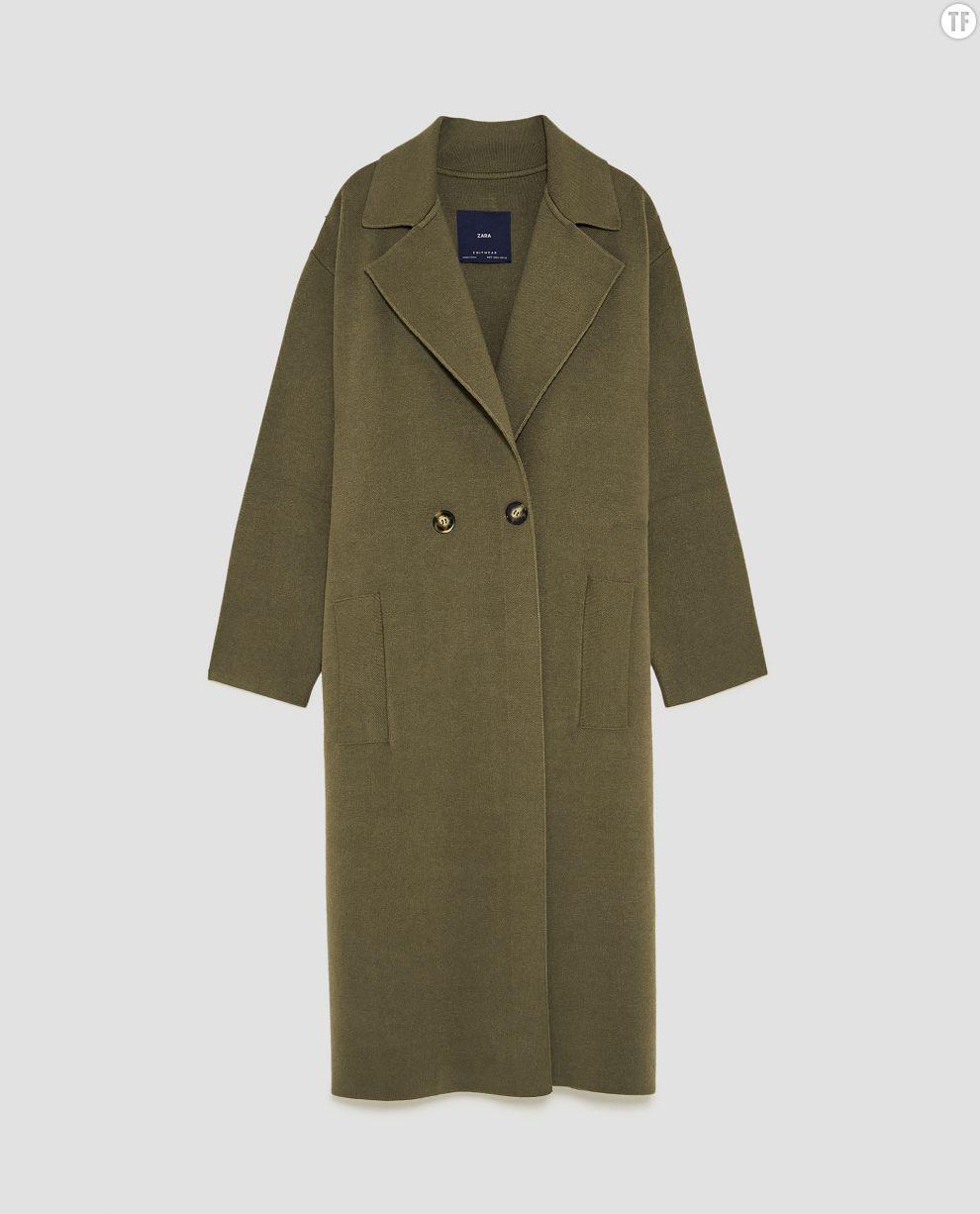 Manteau d'homme kaki Zara, 79,95€