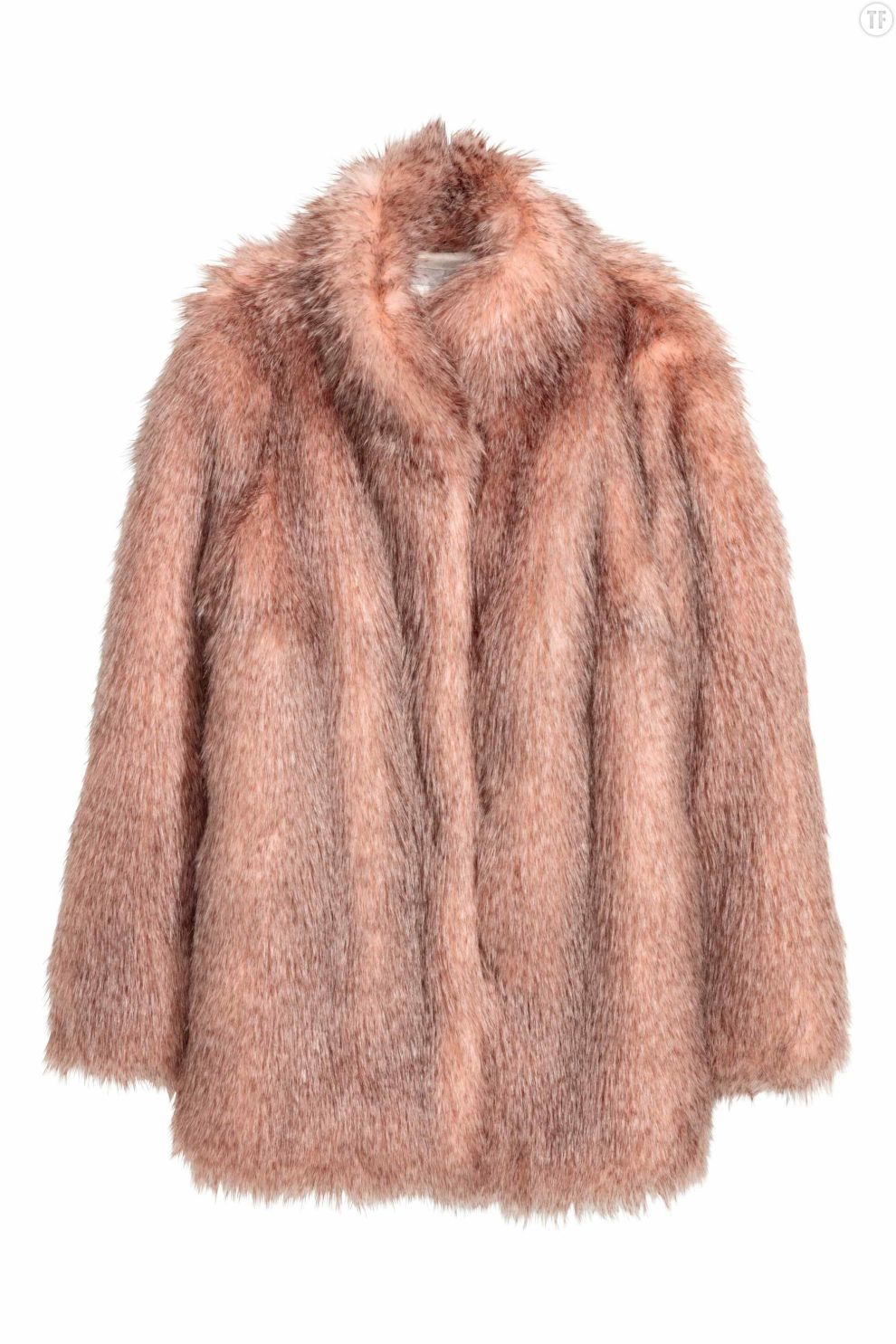 Manteau en fourrure synthétique rose H&M, 99€