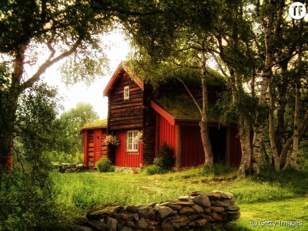 Maison forêt automne