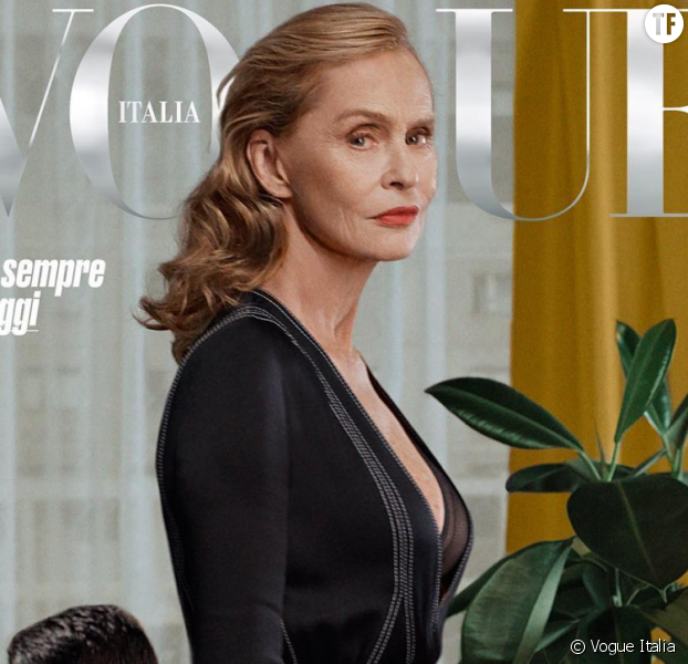 Lauren Hutton en couverture de Vogue Italia à 73 ans.
