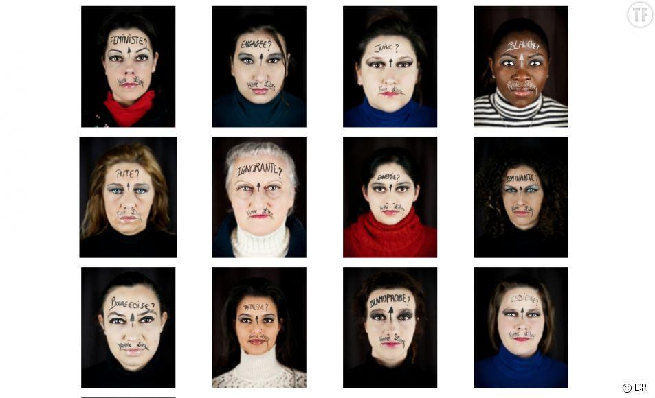Oeuvre de Lara Harbinia sur l'insulte au féminin.