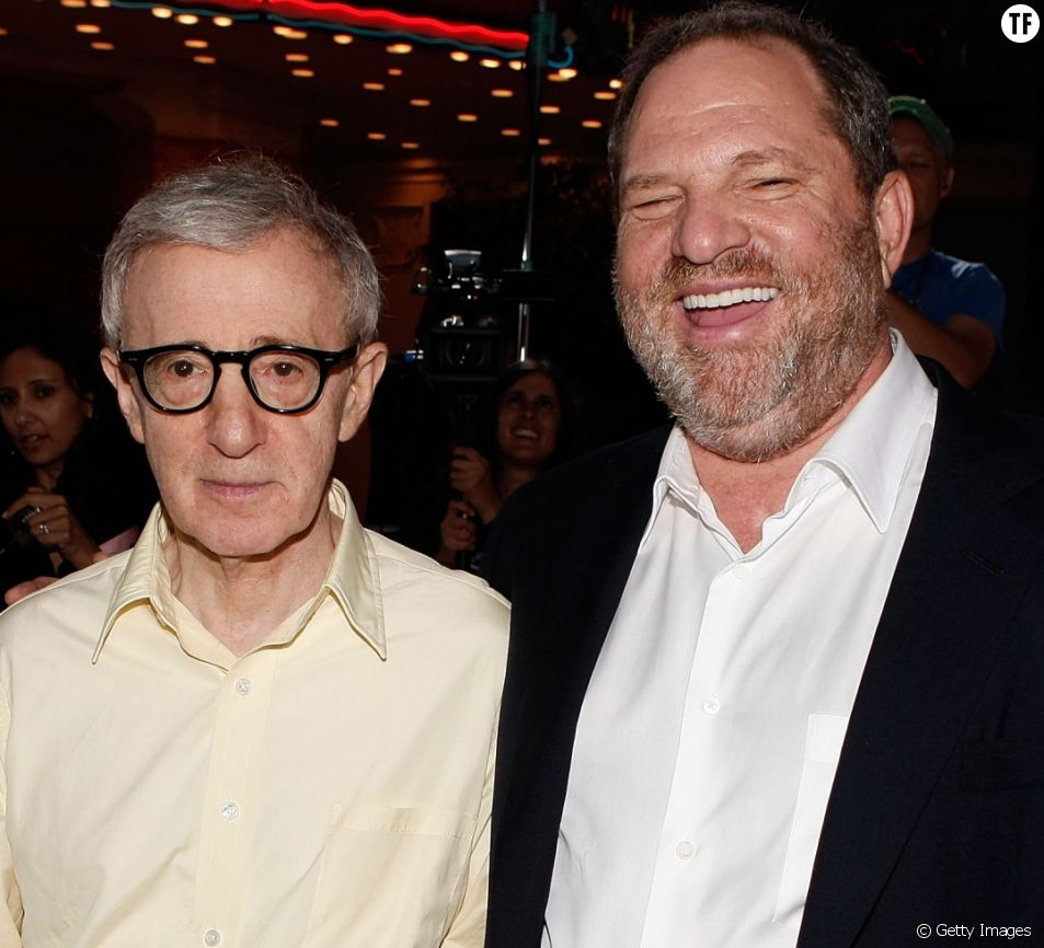 Harvey Weinstein et Woody Allen en 2008 à Los Angeles.