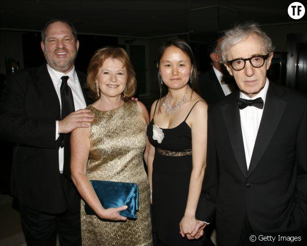 Harvey Weinstein, Letty Aronson, Soon Yi Previn et Woody Allen à l'hôtel Martinez en mai 2008, à Los Angeles.
