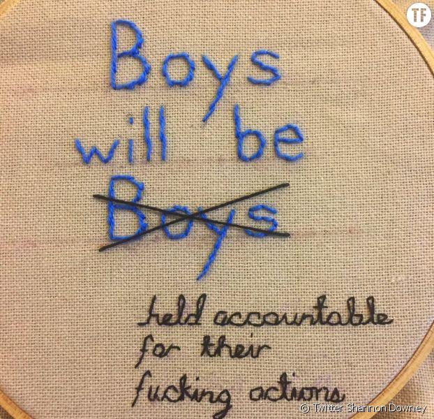 Les broderies féministes de Shannon Downey