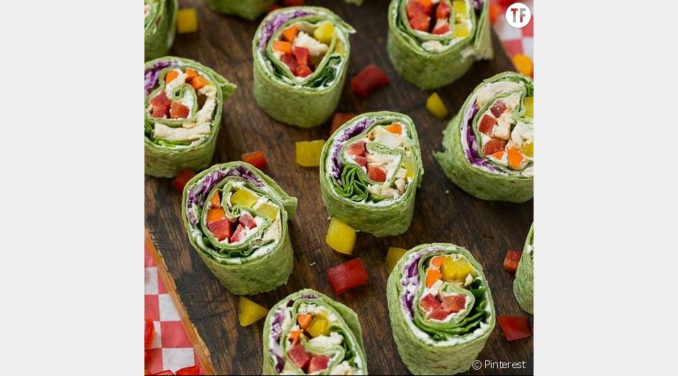 Des roulés végétariens.