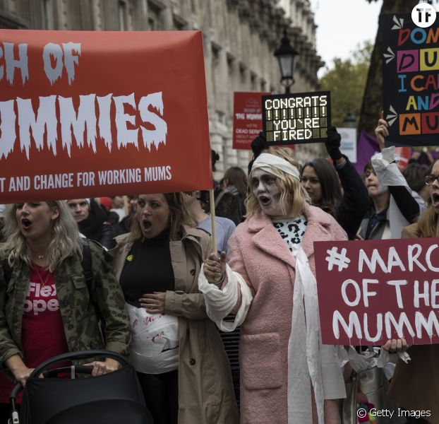 March of the mummies à Londres le 31 octobre 2017