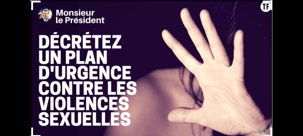"""Une pétition  réclame """"un plan d'urgence contre les violences sexuelles"""", au président de la République."""