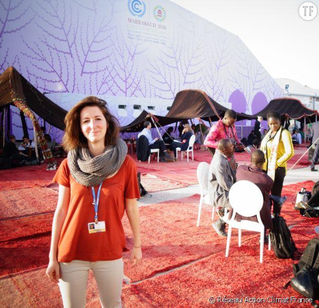 Lucile Dufour , responsable des négociations et du développement pour Réseau Action Climat, Marrackech, 2016, COP22.