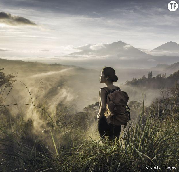 Photo d'illustration d'une touriste en Indonésie.