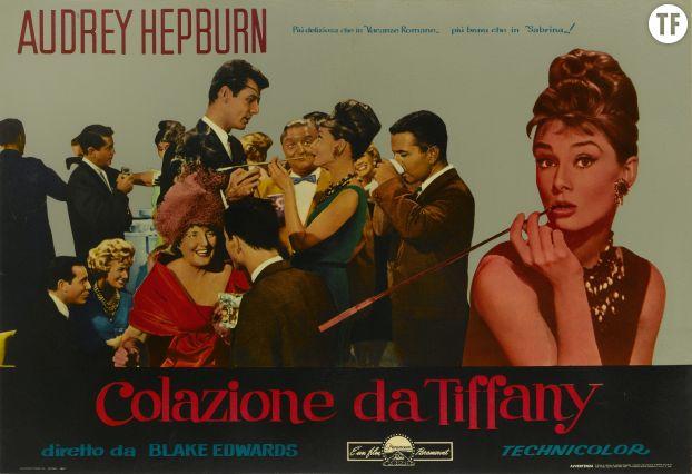 """Affiche du film """"Diamants sur canapé"""", 1961, Audrey Hepburn (tête d'affiche)"""
