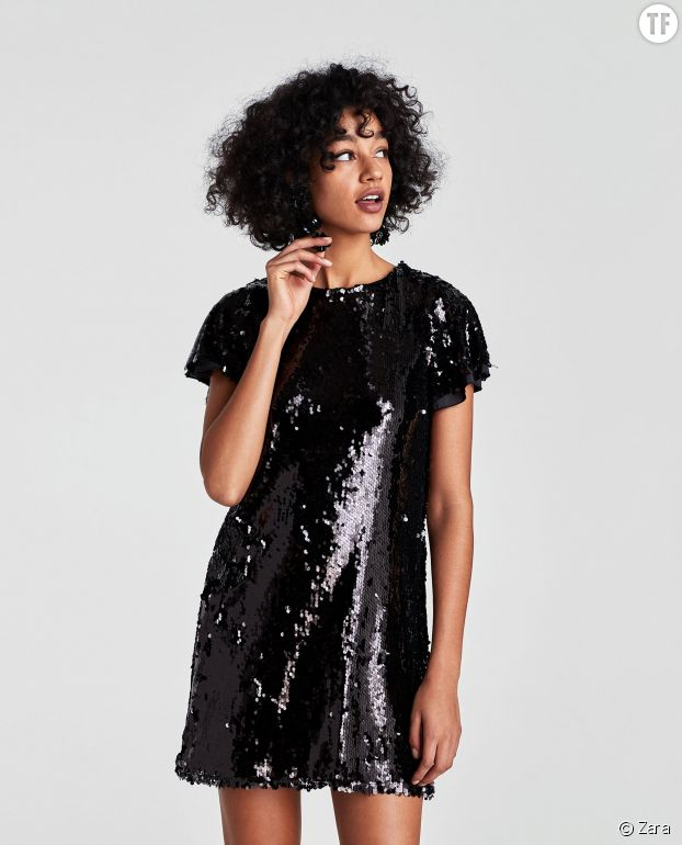 Robe courte pailletée Zara