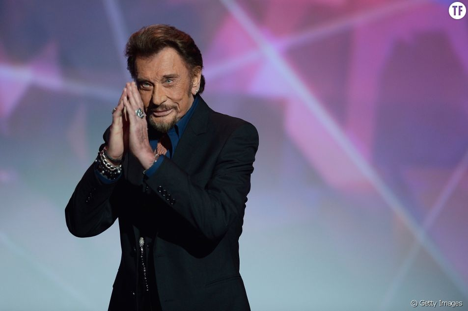 Johnny Hallyday aux Victoires de la Musique en 2016