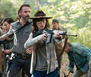 """Carl et Rick dans la saison 8 de """"The Walking Dead"""""""