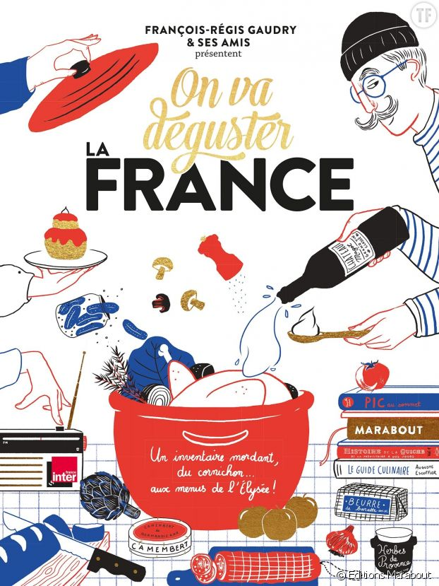 "Photo de couverture de ""On va déguster la France""."