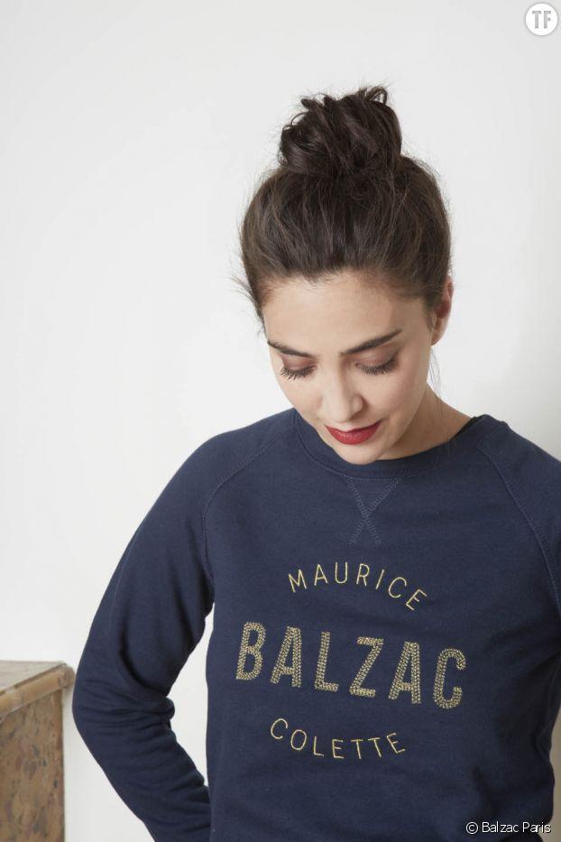 Le sweat-shirt littéraire Honorine de Balzac Paris