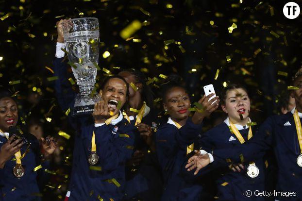 L'équipe de handball féminine, championnes du monde à Hambourg