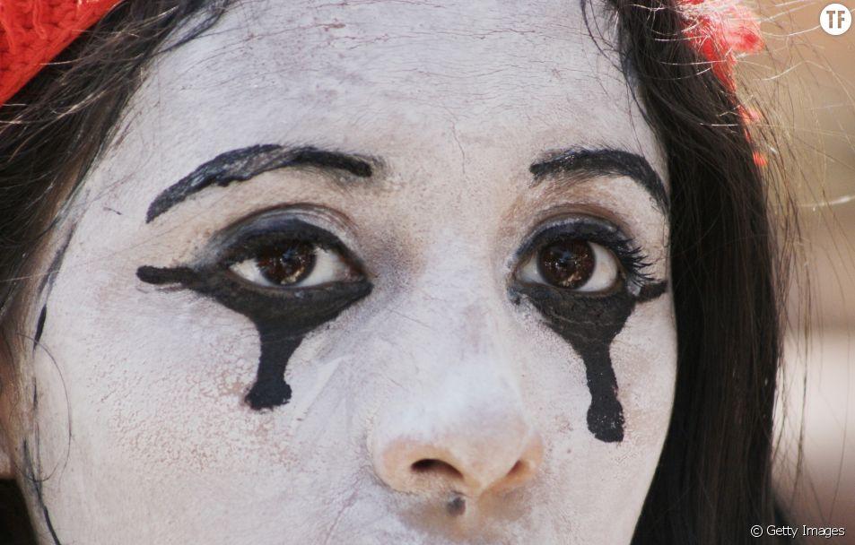 Une manifestante salvadorienne lors de la Journée internationale pour les droits des femmes
