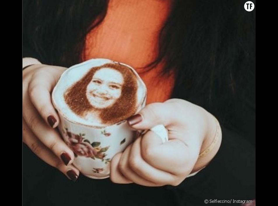 Selfieccino : votre portrait dans de la mousse de cappucino