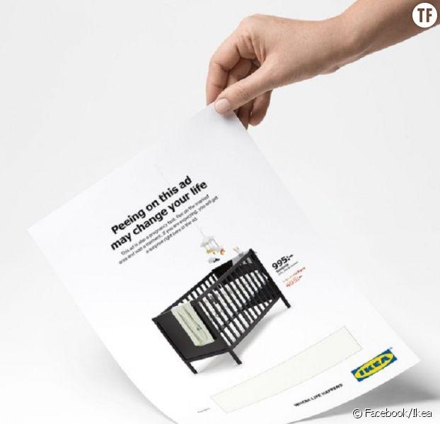 Pub Ikea : uriner pour savoir si vous êtes enceinte