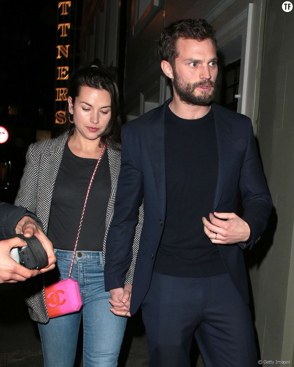 Jamie Dornan et sa femme Amelia Warner le 18 janvier 2018