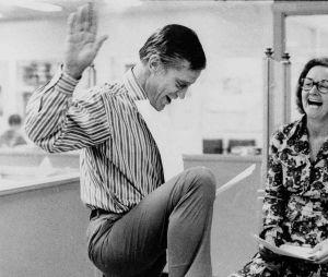 Katharine Graham et Benjamin Bradlee dans les locaux du Washington Post en 1971.