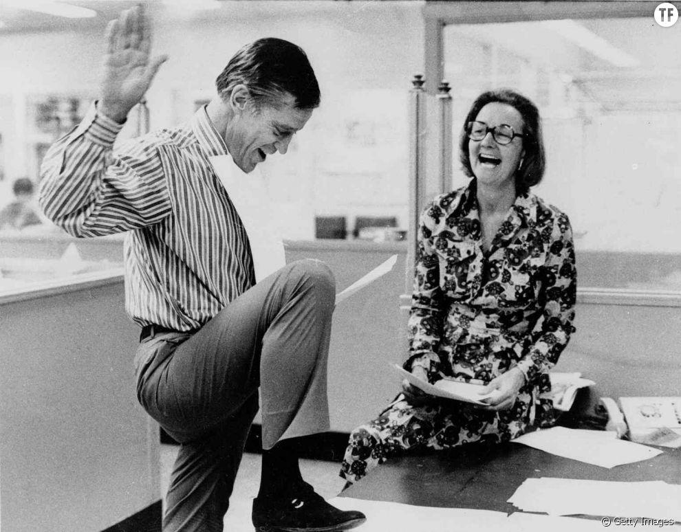 Katharine Graham et Benjamin Bradlee dans les locaux du  Washington Post  en 1971 .