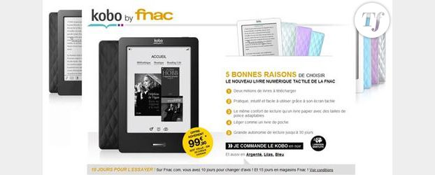Ebook : La Fnac passe la seconde avec la liseuse Kobo