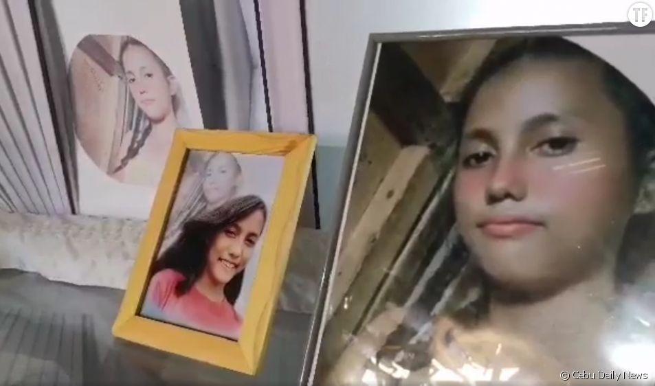 Photos sur le cercueil de Christine Silawan