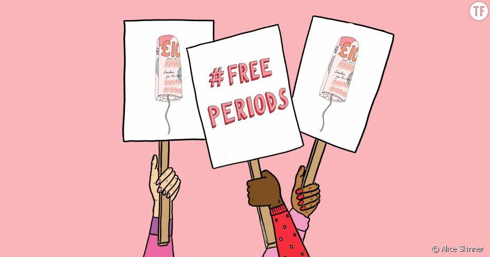 La campagne #FreePeriods contre la précarité menstruelle en Angleterre