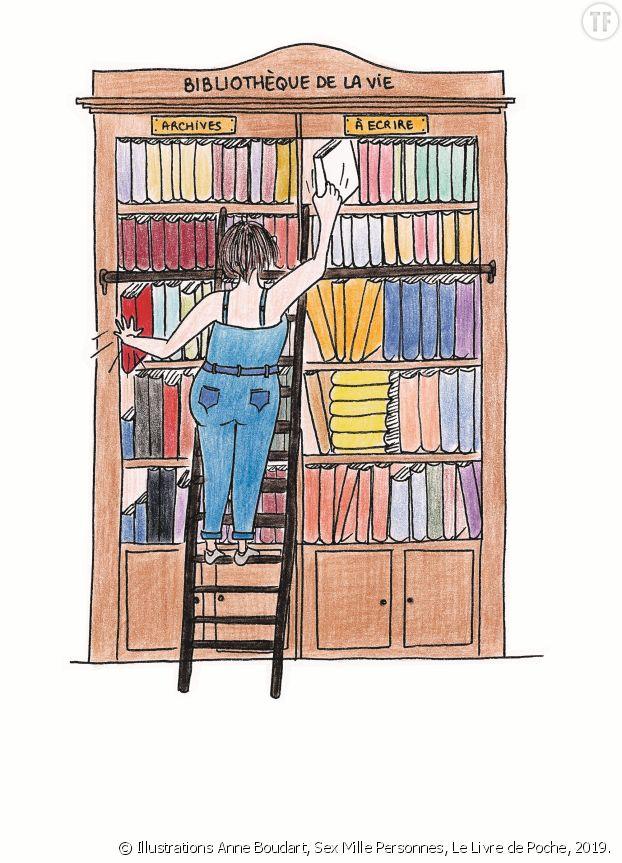 Illustrations Anne Boudart, Sex Mille Personnes, Le Livre de Poche, 2019.