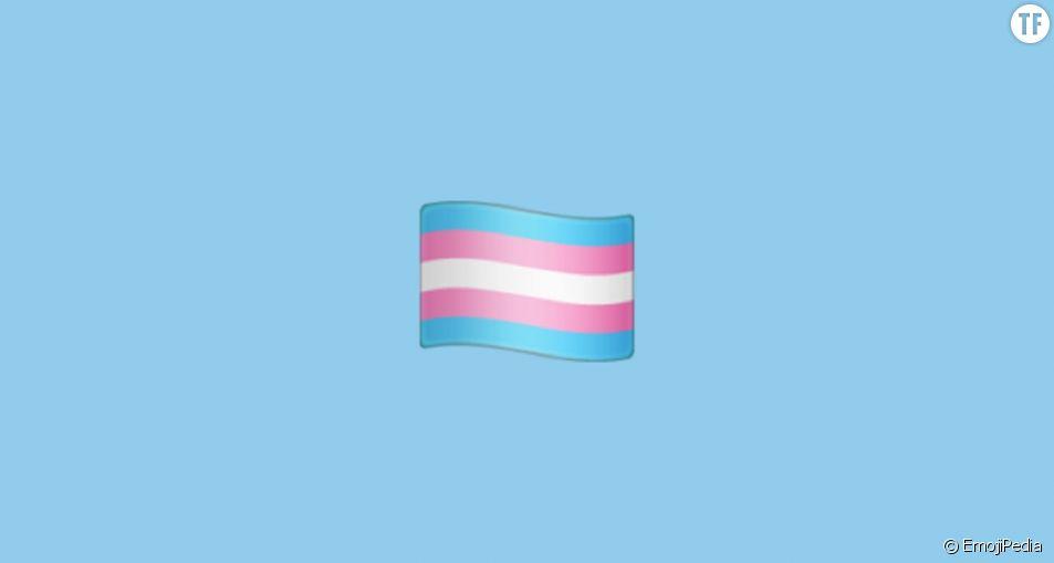 Le drapeau trans, nouveau venu parmi la centaine de derniers emojis.