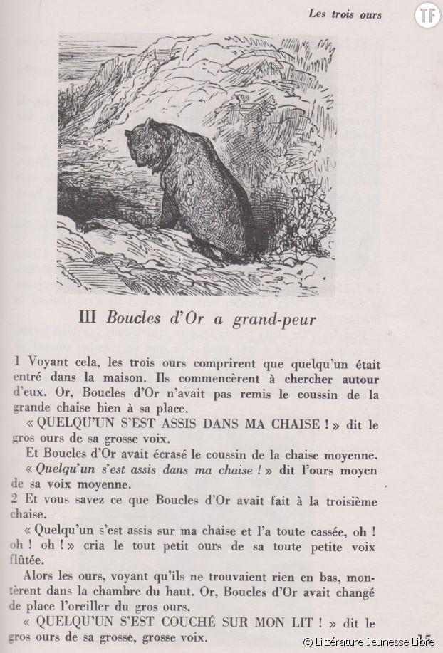 """""""Les trois ours"""", ou les contes de Sarah Cone Bryant."""