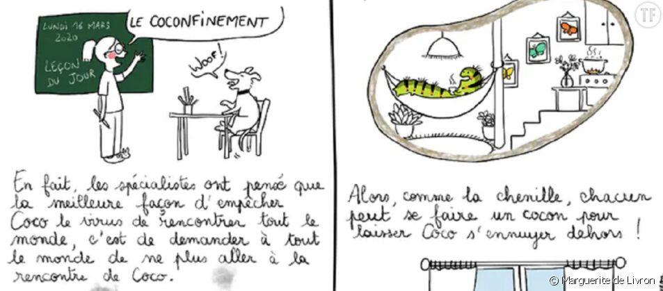 """Marguerite de Livron explique les rudiments du """"coconfinement""""."""