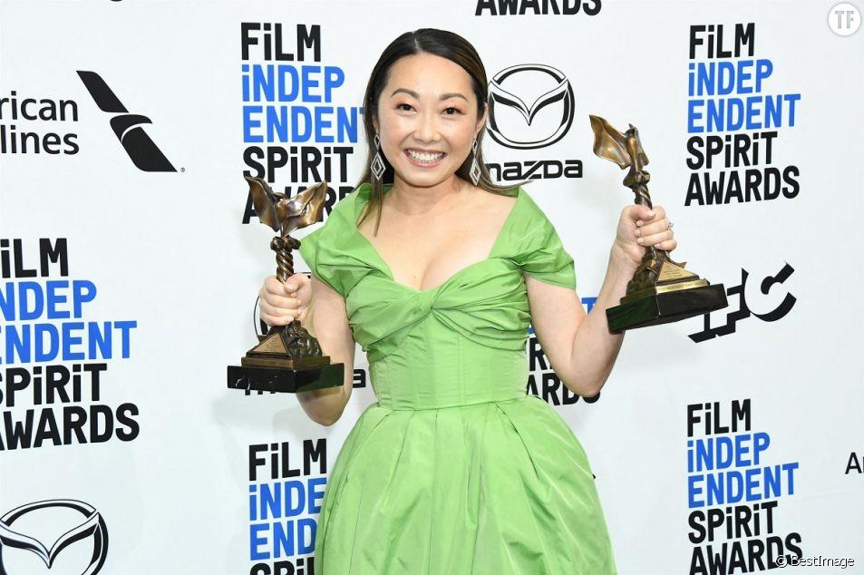La cinéaste Lulu Wang lors de la soirée de la 35ème édition des Film Independant Spirit Awards à Los Angeles, le 8 février 2020.