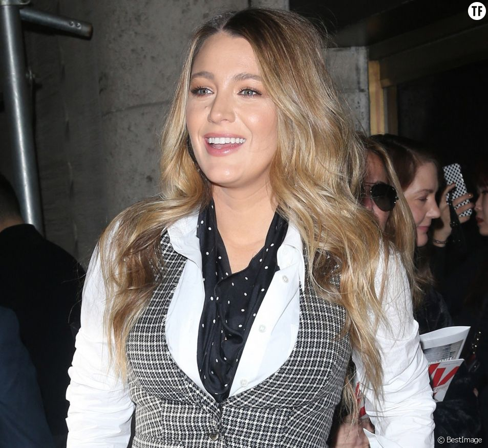 Blake Lively se promène à New York, le 12 février 2020.