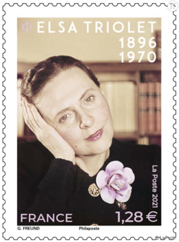 Un superbe timbre d'Elsa Triolet édité par La Poste
